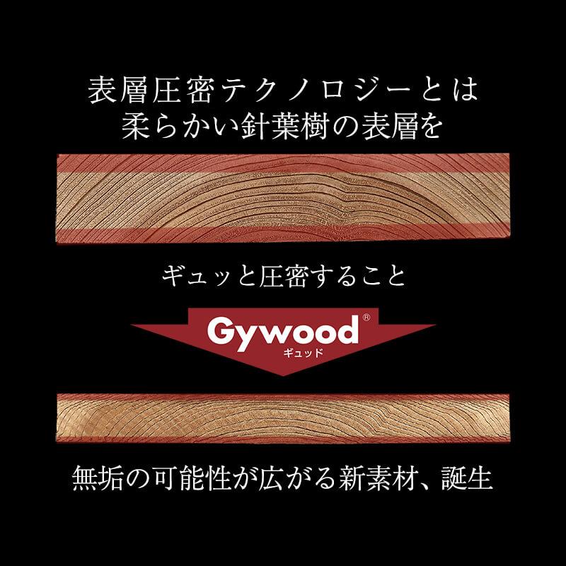 無垢の可能性が広がる新素材、gywood 誕生